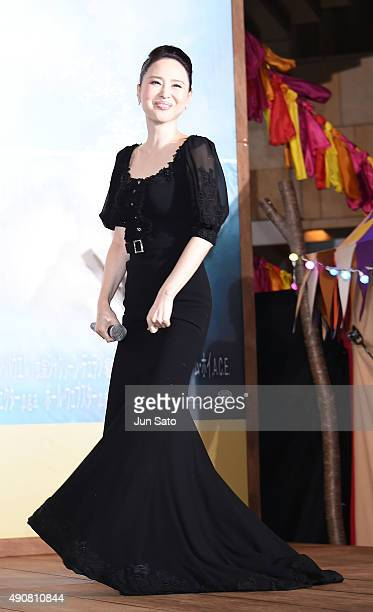 Seiko Matsuda attends the Japan Premiere of 'Pan' at the Roppongi Hills on October 1 2015 in Tokyo Japan
