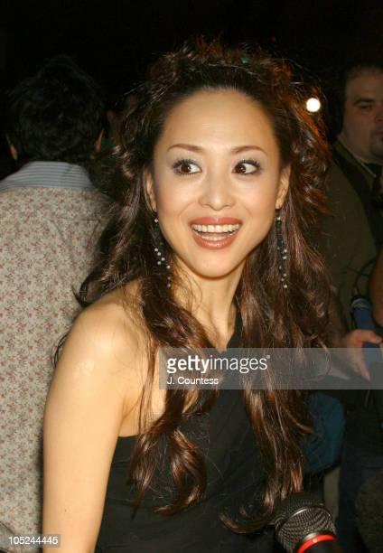 Seiko Matsuda during MercedesBenz Fashion Week Spring 2004 BCBG Max Azria Front Row at Bryant Park in New York City New York United States