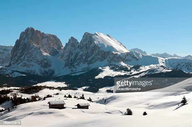 Alpe di Siusi e delle Dolomiti in inverno