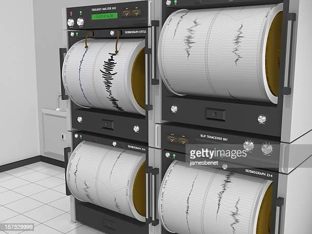 Seismograph Machine-Angle View