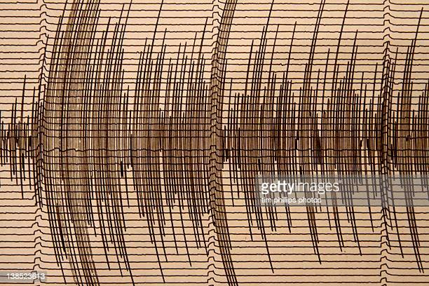 Seismograph recording earthquake