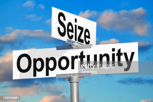 Seize Opportunity Street Sign