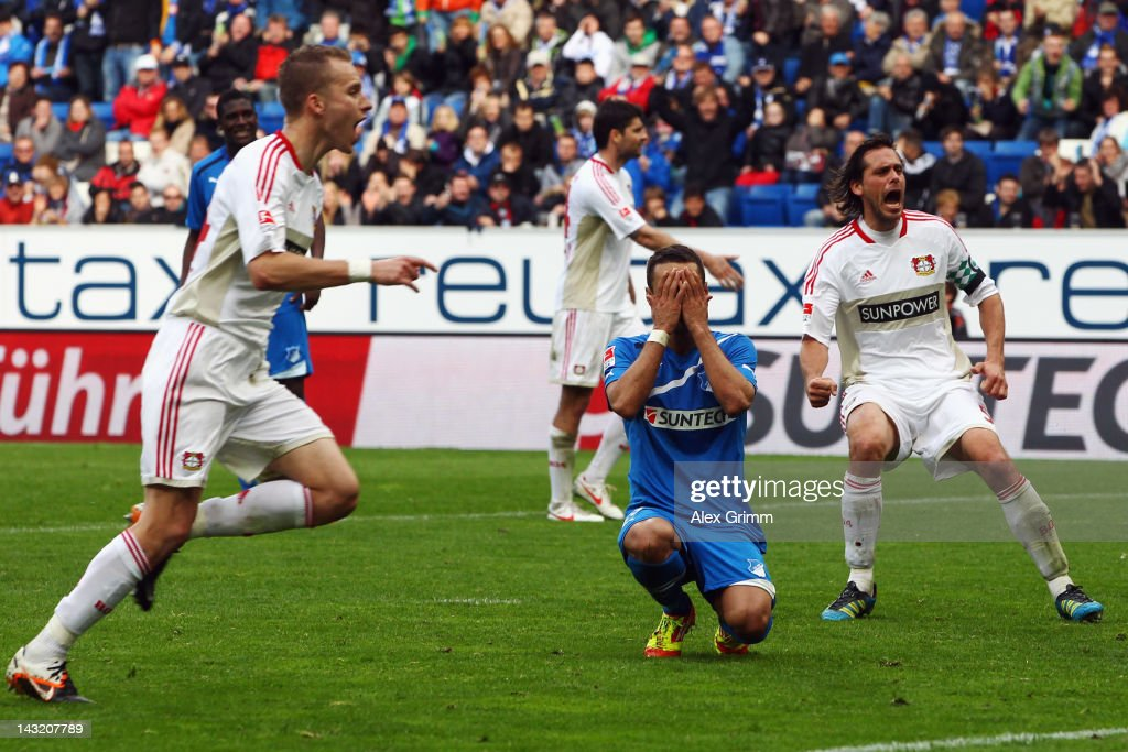 <a gi-track='captionPersonalityLinkClicked' href=/galleries/search?phrase=Sejad+Salihovic&family=editorial&specificpeople=758626 ng-click='$event.stopPropagation()'>Sejad Salihovic</a> of Hoffenheim reacts after missing a penalty during the Bundesliga match between 1899 Hoffenheim and Bayer 04 Leverkusen at Rhein-Neckar-Arena on April 21, 2012 in Sinsheim, Germany.