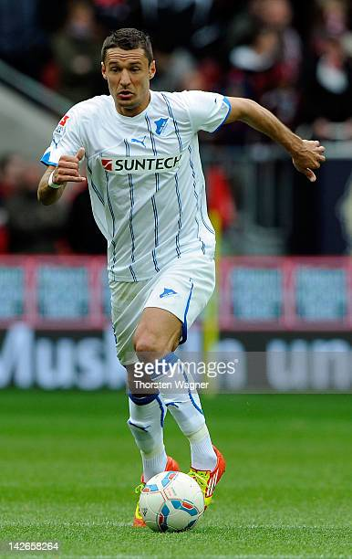 Sejad Salihovic of Hoffenheim runs with the ball during the Bundesliga match between 1FC Kaiserslautern and TSG 1899 Hoffenheim at FritzWalterStadion...