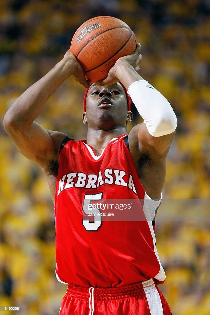 Sek Henry of the Nebraska Huskers makes a free throw against the Missouri Tigers during the game on February 14 2009 at Mizzou Arena in Columbia...