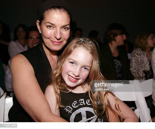 Sela Ward and daughter during MercedesBenz Spring 2005 Fashion Week at Smashbox Studios Juan Carlos Obando Backstage and Front Row at Smashbox...