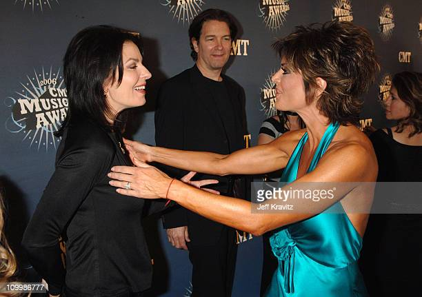 Sela Ward and Lisa Rinna during 2006 CMT Music Awards Red Carpet at Curb Events Center at Belmont University in Nashville Tennessee United States