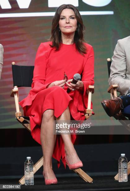 Sela Ward of the series 'Graves' speaks onstage during the EPIX portion of the 2017 Summer Television Critics Association Press Tour at The Beverly...