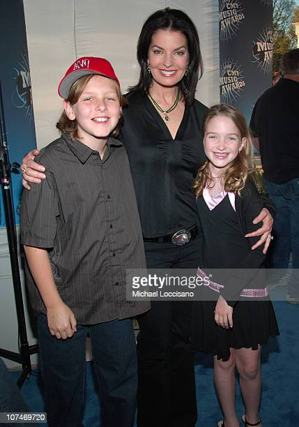 Sela Ward with her son and daughter during 2006 CMT Music Awards Red Carpet at Curb Events Center at Belmont University in Nashville Tennessee United...