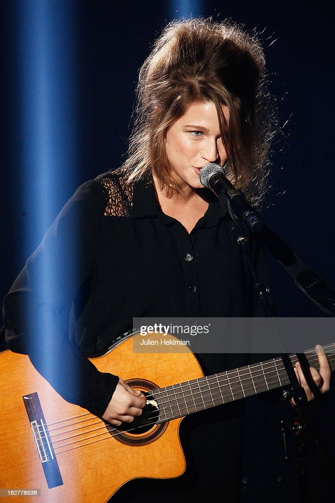 <a gi-track='captionPersonalityLinkClicked' href=/galleries/search?phrase=Selah+Sue&family=editorial&specificpeople=5858627 ng-click='$event.stopPropagation()'>Selah Sue</a> performs during the Etam Live Show Lingerie at Bourse du Commerce on February 26, 2013 in Paris, France.