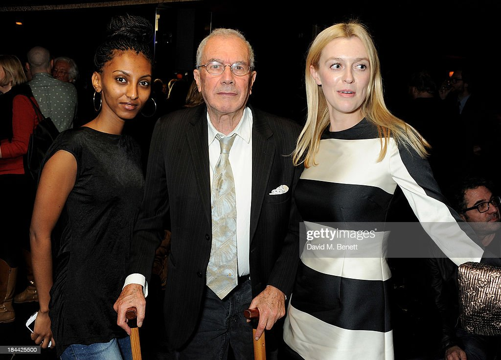Selam Mahmoud, Michael White and director Gracie Otto attend a post-screening party for 'The Last Impresario' during the 57th BFI London Film Festival at The Arts Club on October 13, 2013 in London, England.