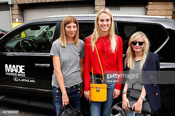 Selby Drummond seen at Lexus Arrivals during New York Fashion Week The Shows at Skylight at Moynihan Station on September 10 2015 in New York City