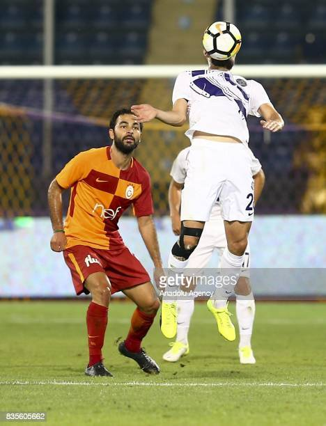 Selcuk Inan of Galatasaray in action during Turkish Super Lig soccer match between Osmanlispor and Galatasaray at the Osmanli Stadium in Ankara...