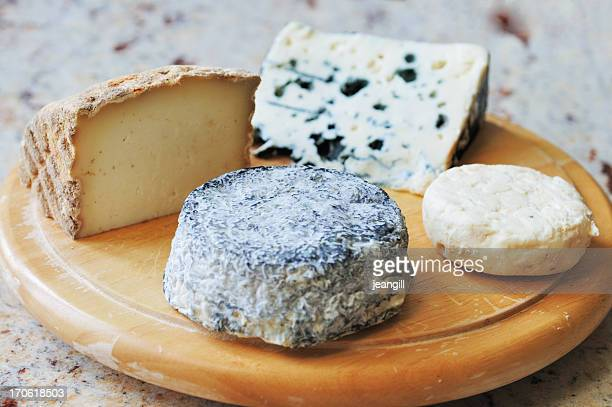Selected French goat and sheep cheeses