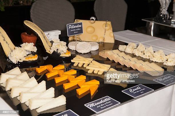 A selection from Vincent Vergne winner of the 2015 best cheese maker during 'Fromage Fashion Week Menu' on September 27 2015 in Paris France