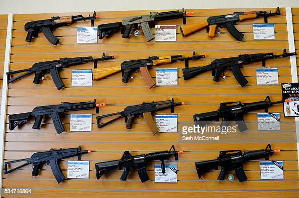 Selection of airsoft guns at Fox Airsoft in Parker Colorado on May 25 2016 Fox Airsoft offers airsoft guns protective gear and repair