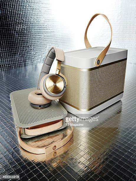 A selection of Bang And Olufsen Play Series audio products including an A2 Bluetooth speaker H8 wireless headphones and a Beolit 15 miniBluetooth...