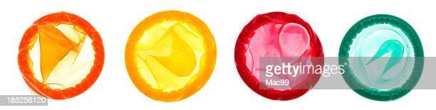 Auswahl an Kondome beleuchteten