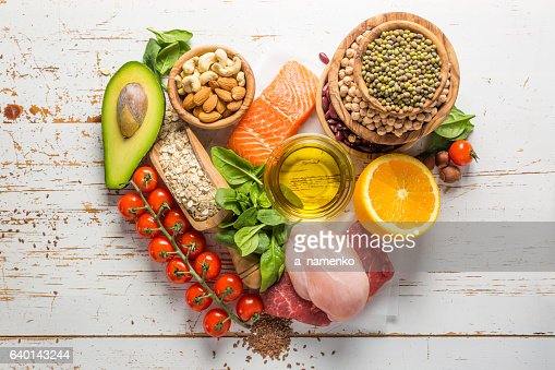 Selection of food that is good for the health and : Stock-Foto