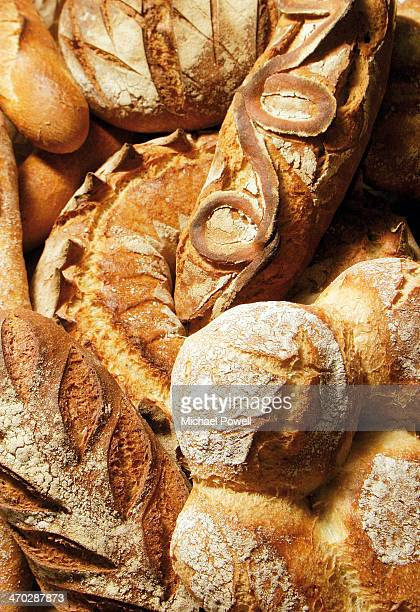 Selection of French handmade artisan bread