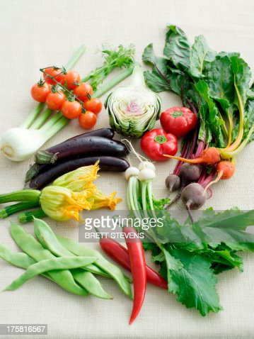 Selection of fresh ingredients : Stock Photo