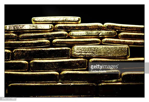 A selection of gold bars