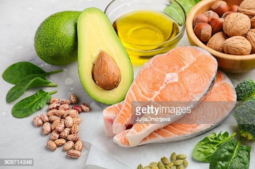 Selection of healthy food for heart, life concept. : Stock Photo