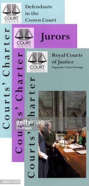 A selection of leaflets promoting a new charter for court users aimed at taking the trauma out of legal hearings that were launched today by the Lord...