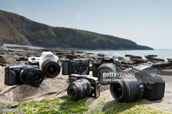A selection of lightweight cameras for ideal for landscape photography Panasonic DMCGF6 Pentax K30 Sony Alpha NEX3N Olympus PEN EPM2 Canon EOS 100D...