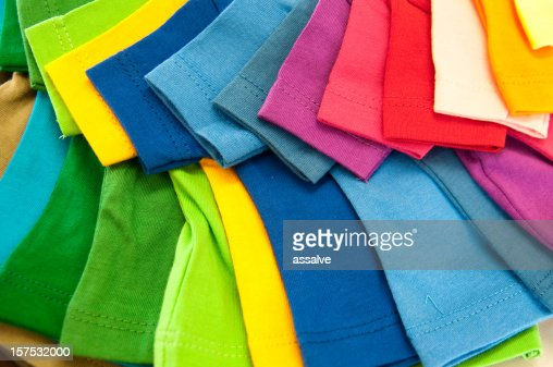 selection of multicolored shirts