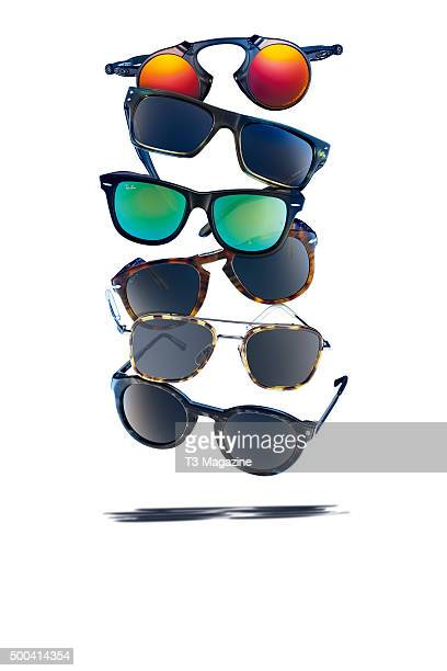 A selection of premium sunglasses including Oakley Polarized Madman Our Legacy Faith RayBan Original Wayfarer Cosmo Persol Crystal Icons Thom Browne...