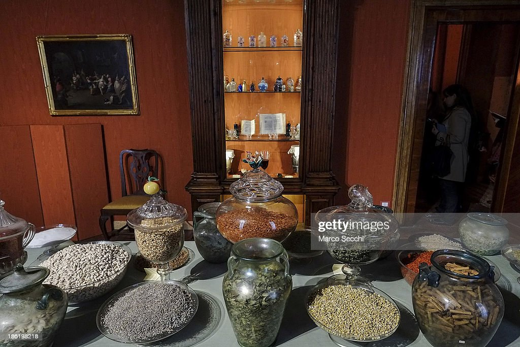 A selection of primary essences, plants and aromas on display at the perfume exhibition on October 29, 2013 in Venice, Italy. The new perfume section at the Venetian Museum of eighteenth-century lifestyle Palazzo Mocenigo will open on the 1st of November.