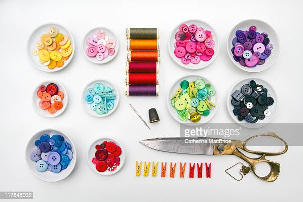 Selection of sewing craft items