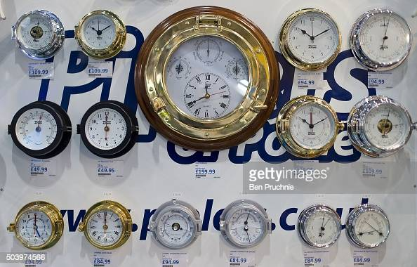 A selection of ships instruments are displayed during the London Boat Show at ExCel on January 8 2016 in London England The London Boat Show taking...