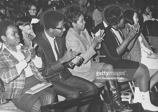A selection of the 1500 in attendance for a speech on the 'Black Power' Philosophy by Stokely Carmichael Baltimore Maryland 1968