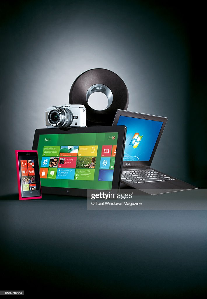 A selection of the most desirable Windows hardware Nokia Lumia 800 smartphone tablet computer Olympus Pen EP3 camera Philips Fidelio SoundRing...