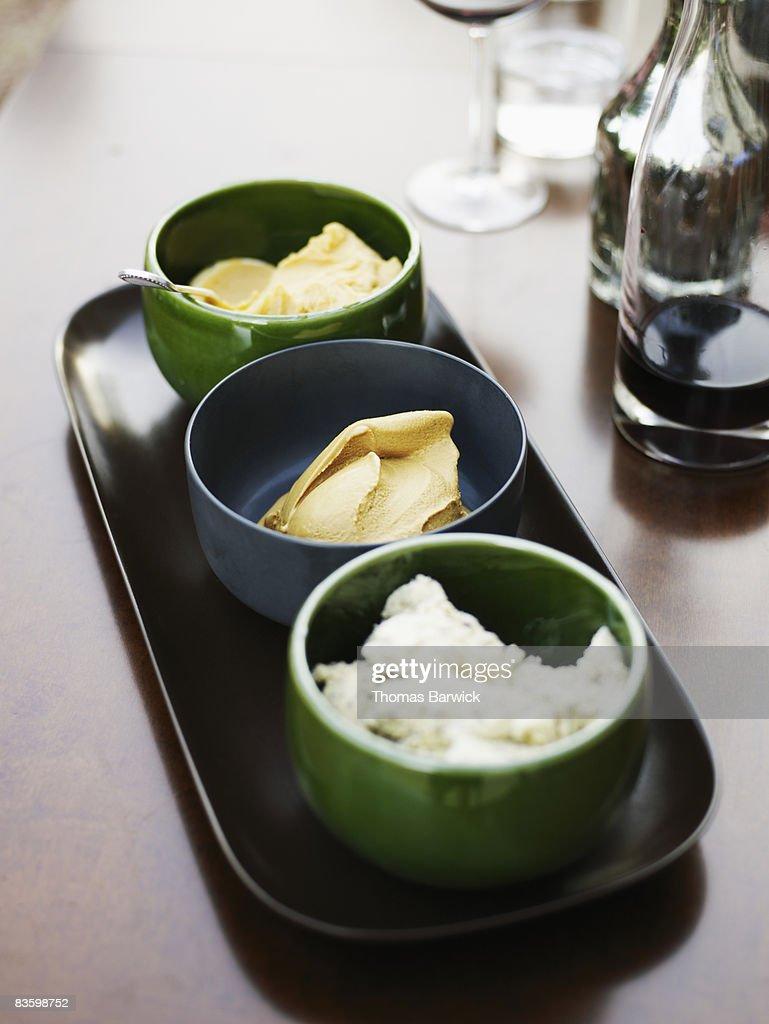 Selection of three freshly made gelat : Stock Photo