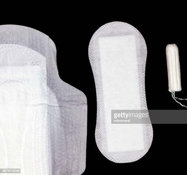 Selection of woman's hygiene items