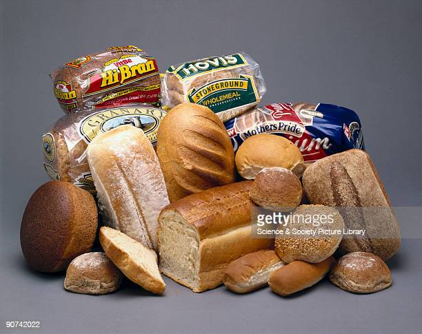 A selection showing the variety of different loaves of bread available from a modern supermarket Bread first originated about 10000 years ago when...