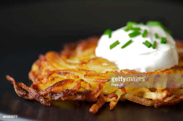 Messa a fuoco differenziale di patate Frittella di patate
