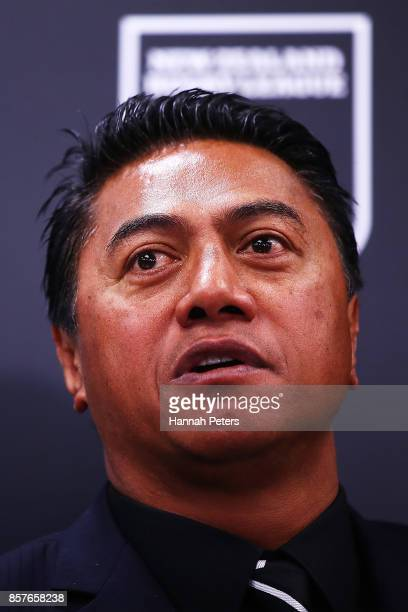 NZRL selector Tawera Nikau speaks to the media during the New Zealand Kiwis Rugby League World Cup Squad Announcement at Rugby League House Museum on...