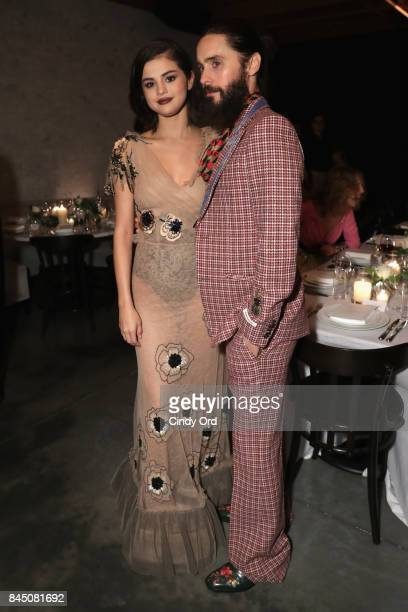 Selena Gomez and Jared Leto attends the #BoF500 party during New York Fashion Week Spring/Summer 2018 at Public Hotel on September 9 2017 in New York...