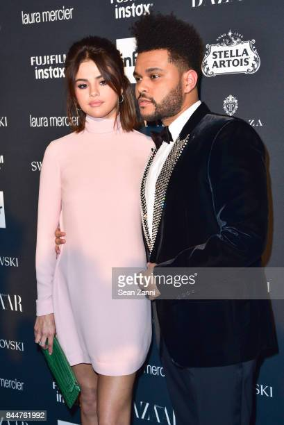 Selena Gomez and The Weeknd attend 2017 Harper's Bazaar Icons at The Plaza Hotel on September 8 2017 in New York City