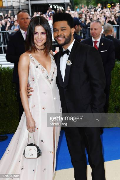 Selena Gomez and The Weeknd attend 'Rei Kawakubo/Comme des Garcons Art Of The InBetween' Costume Institute Gala at Metropolitan Museum of Art on May...