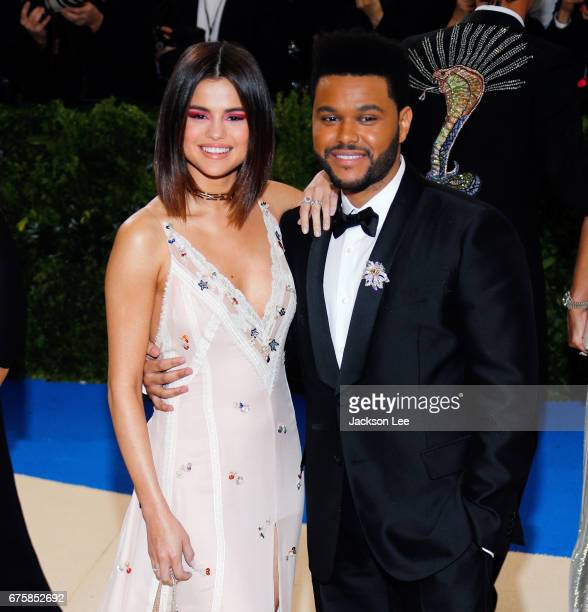 Selena Gomez and The Weeknd attend 'Rei Kawakubo/Comme des GarçonsArt of the InBetween' Costume Institute Gala at Metropolitan Museum of Art on May 1...