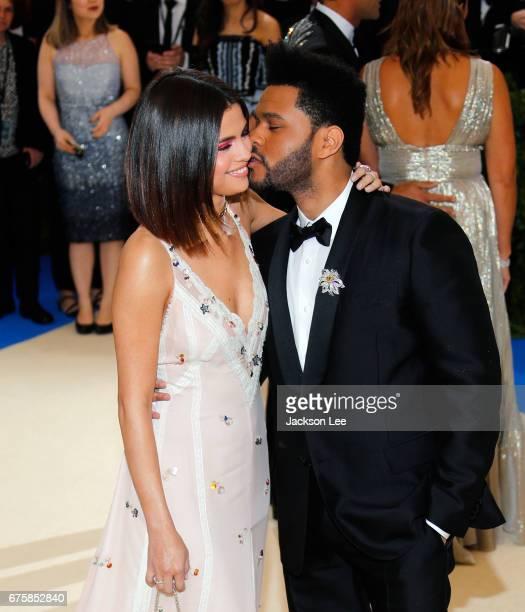 Selena Gomez and The Weeknd attend 'Rei Kawakubo/Comme des GarçonsArt of the InBetween' Costume Institute Gala at Metropolitan Museum of Art on May 1...