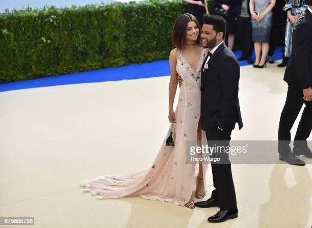 Selena Gomez and The Weeknd attend the 'Rei Kawakubo/Comme des Garcons Art Of The InBetween' Costume Institute Gala at Metropolitan Museum of Art on...