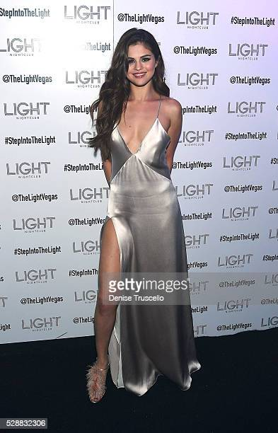 Selena Gomez arrives at her official Revival Tour kick off after party at Light Nightclub at Mandalay Bay Hotel and Casino on May 06 2016 in Las...