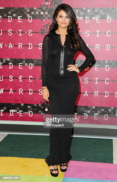 Selena Gomez arrives at the 2015 MTV Video Music Awards at Microsoft Theater on August 30 2015 in Los Angeles California