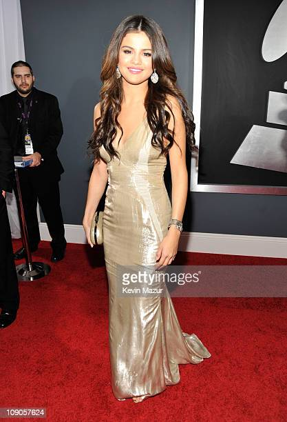 Selena Gomez arrives at The 53rd Annual GRAMMY Awards held at Staples Center on February 13 2011 in Los Angeles California
